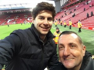 Julius Pi and Craig AllPronix at Anfield